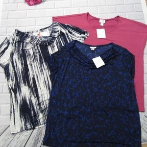Lot of 3 Jaclyn Smith Size XL Dressy Career Tops